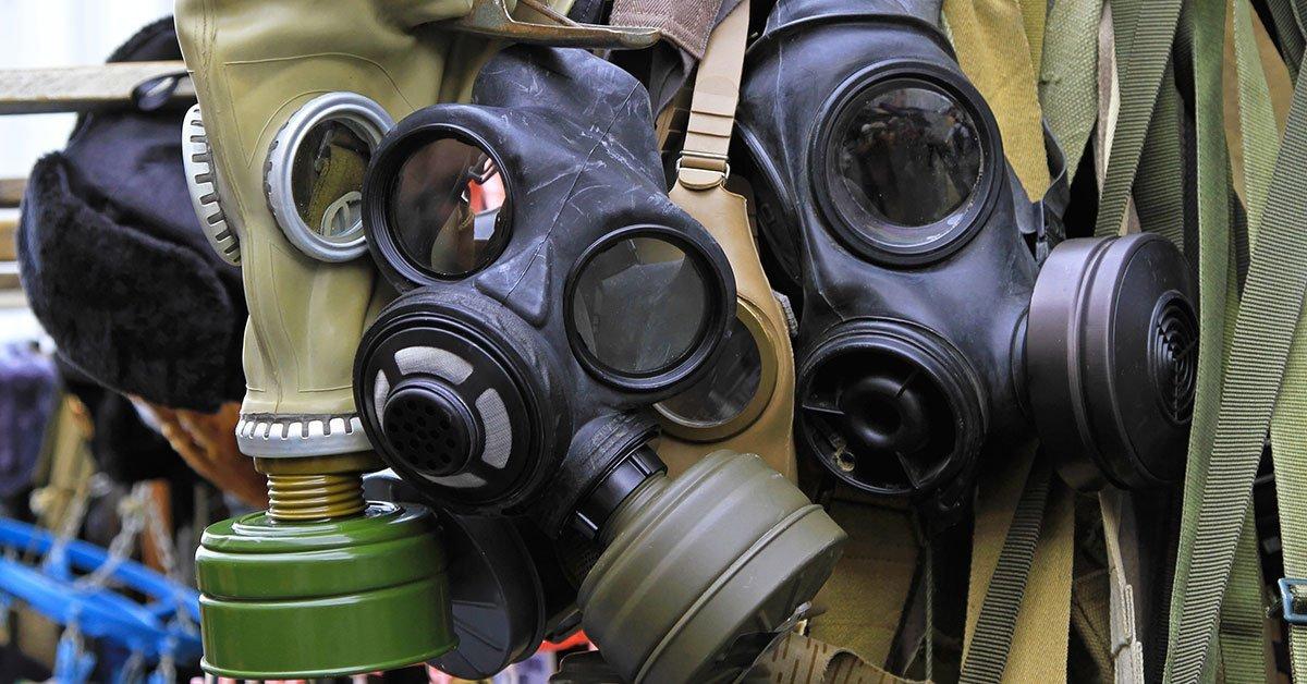maschera con filtri virus